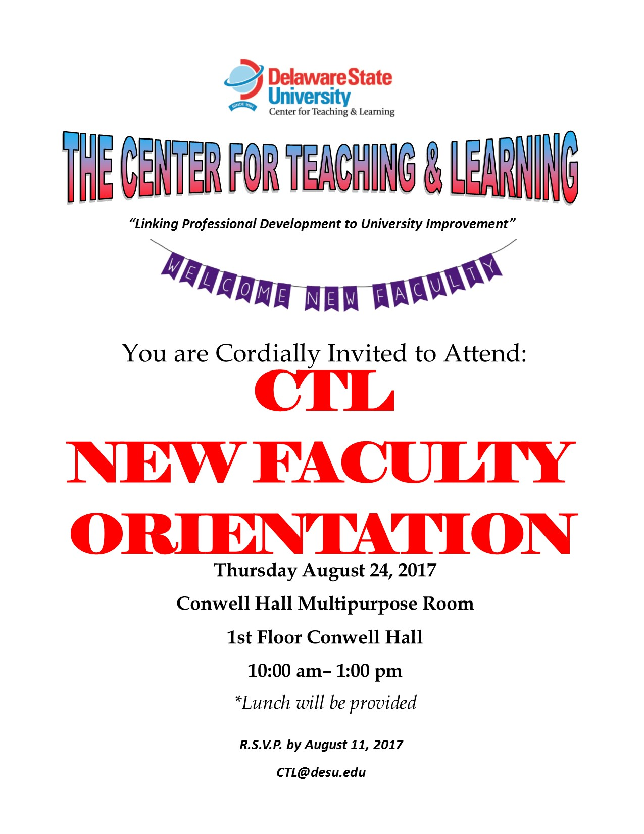 2017 New Faculty Orientation