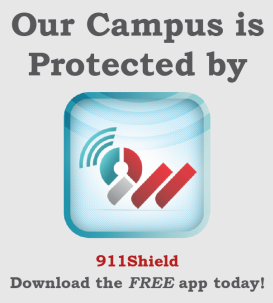 Our campus is protected by 911 shield