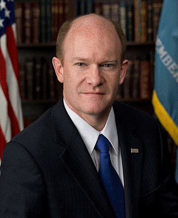 The Honorable Christopher Coons, U.S. Senator