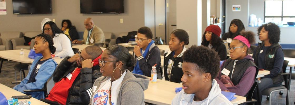 YMCA Black Achievers Program participants
