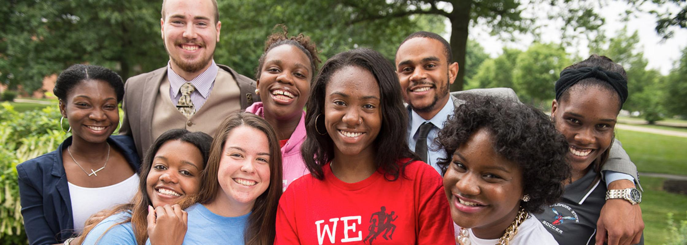 diverse group of DSU students