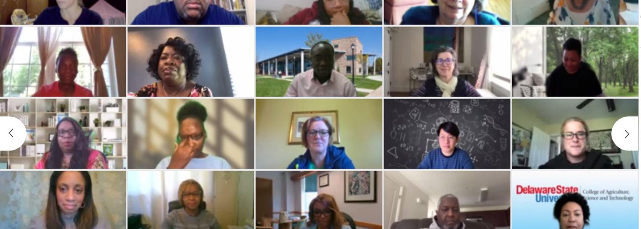 screen shot of webex attendees
