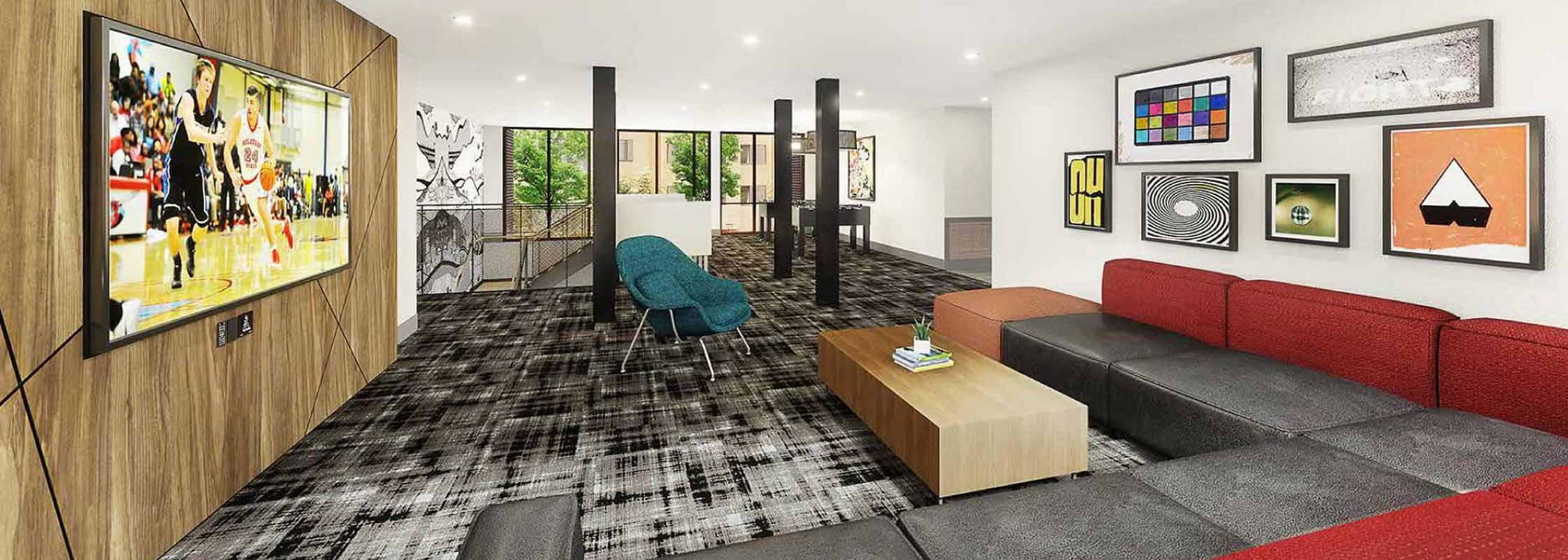 New student housing interior