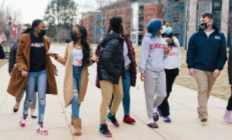 students on dsu campus
