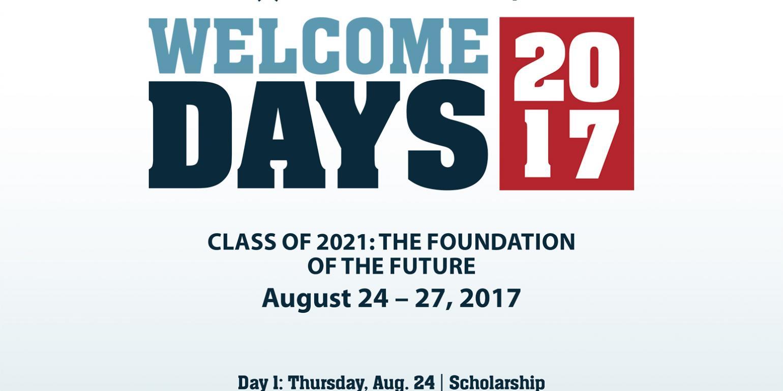2017 DSU Welcome Days schedule