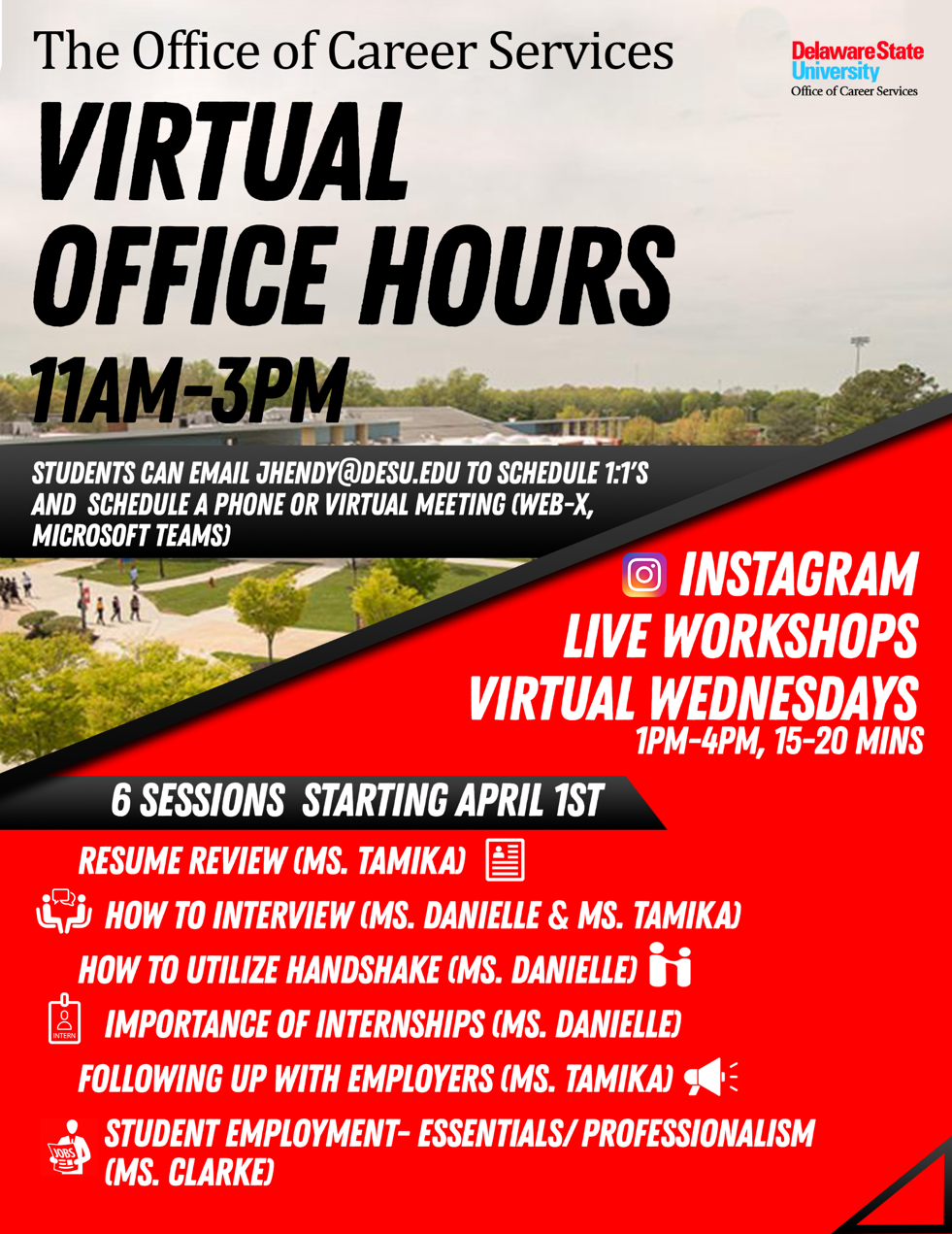 virtual office hours flyer
