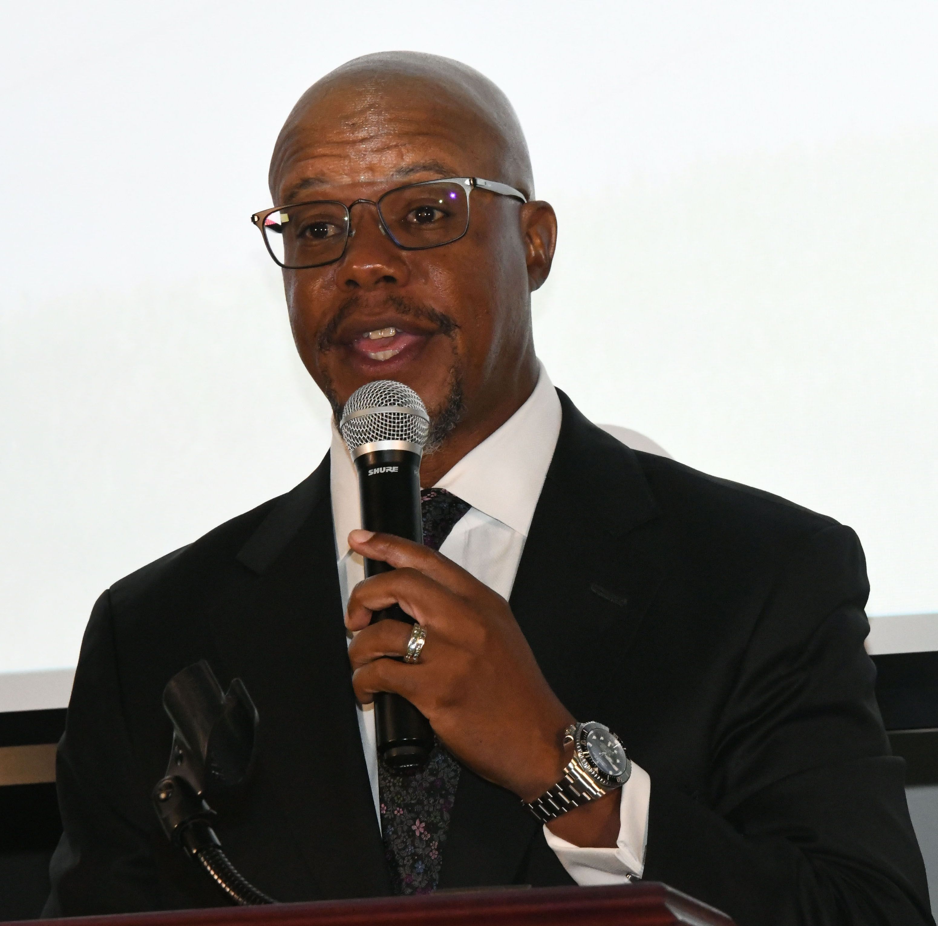 Dr. William Curtis, keynote speaker, lives turned upside down may be God's way of redefining one's role in life.