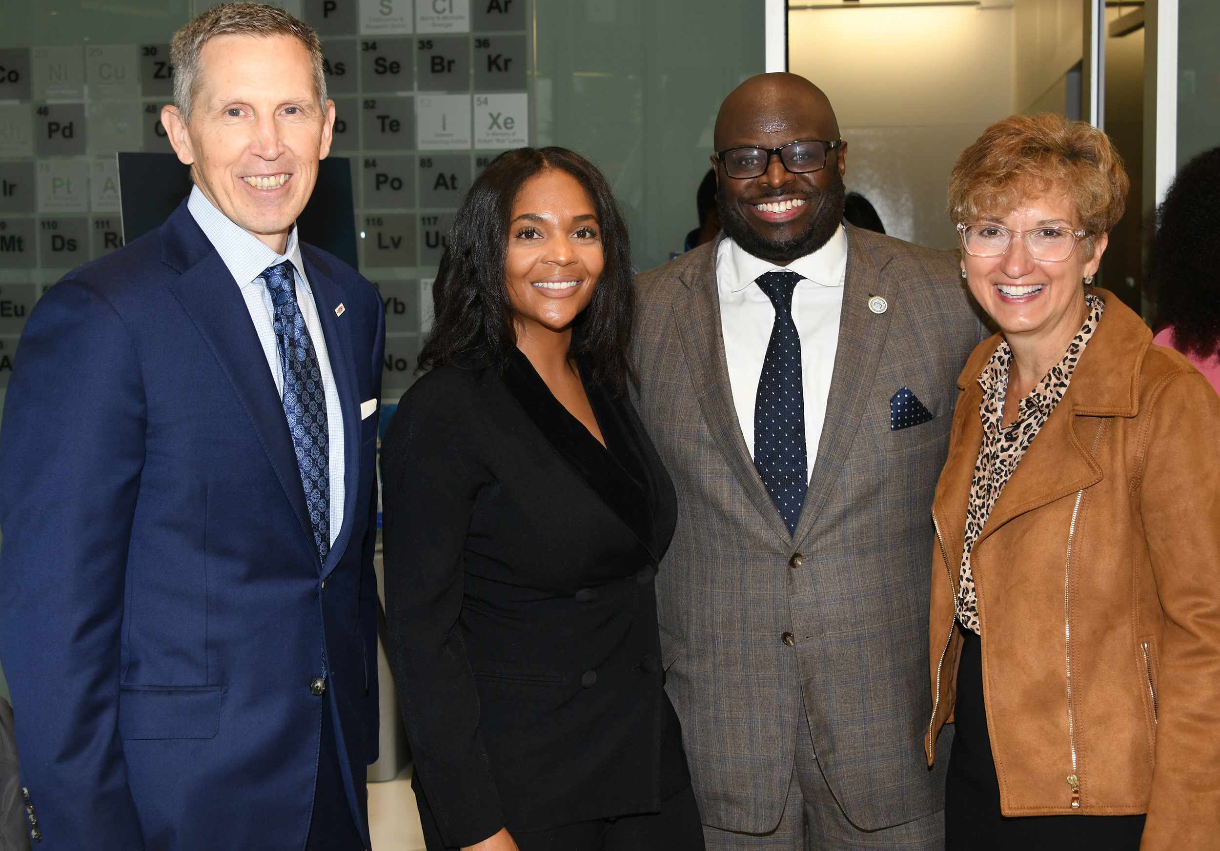 (l-R) Randy Stone of DuPont, Ashley Christopher of Wilmington's HBCU Week, Dr. Tony Allen and Alexa Dembek of DuPont.