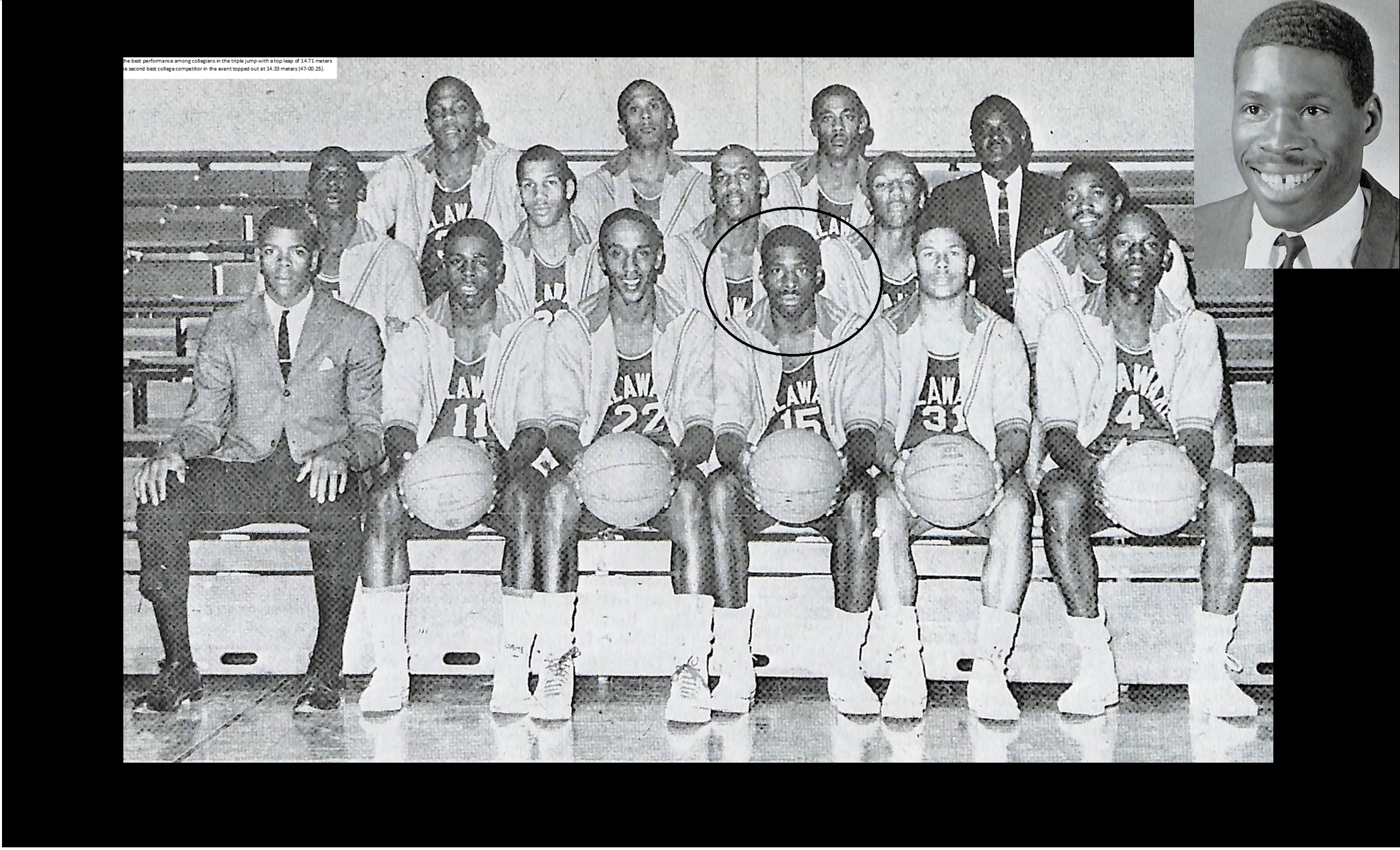 Maurice Pritchett (circled and in the upper right corner) with one of his 1960s teams.