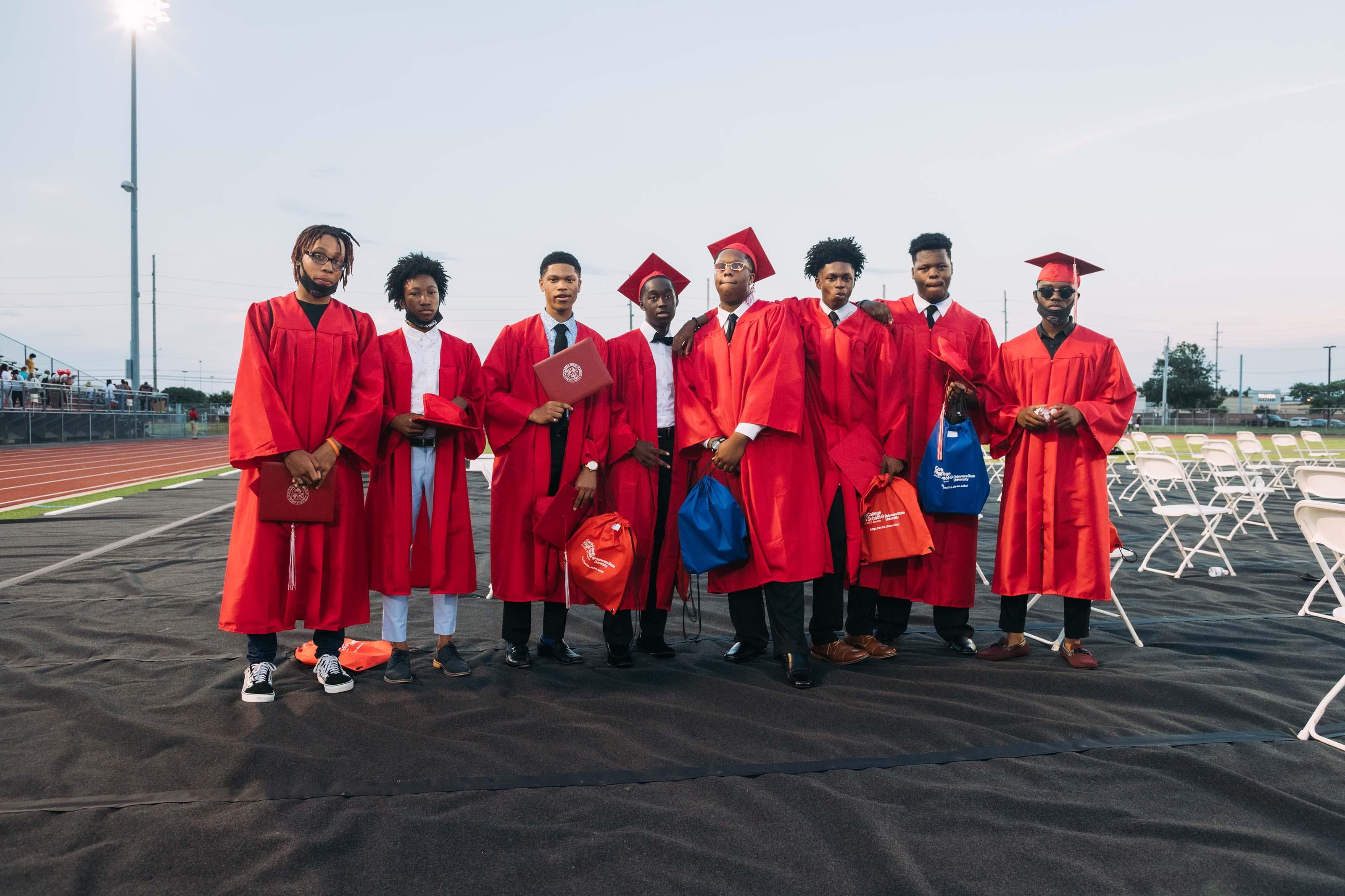 Seven men of the ECHS Class of 2020.