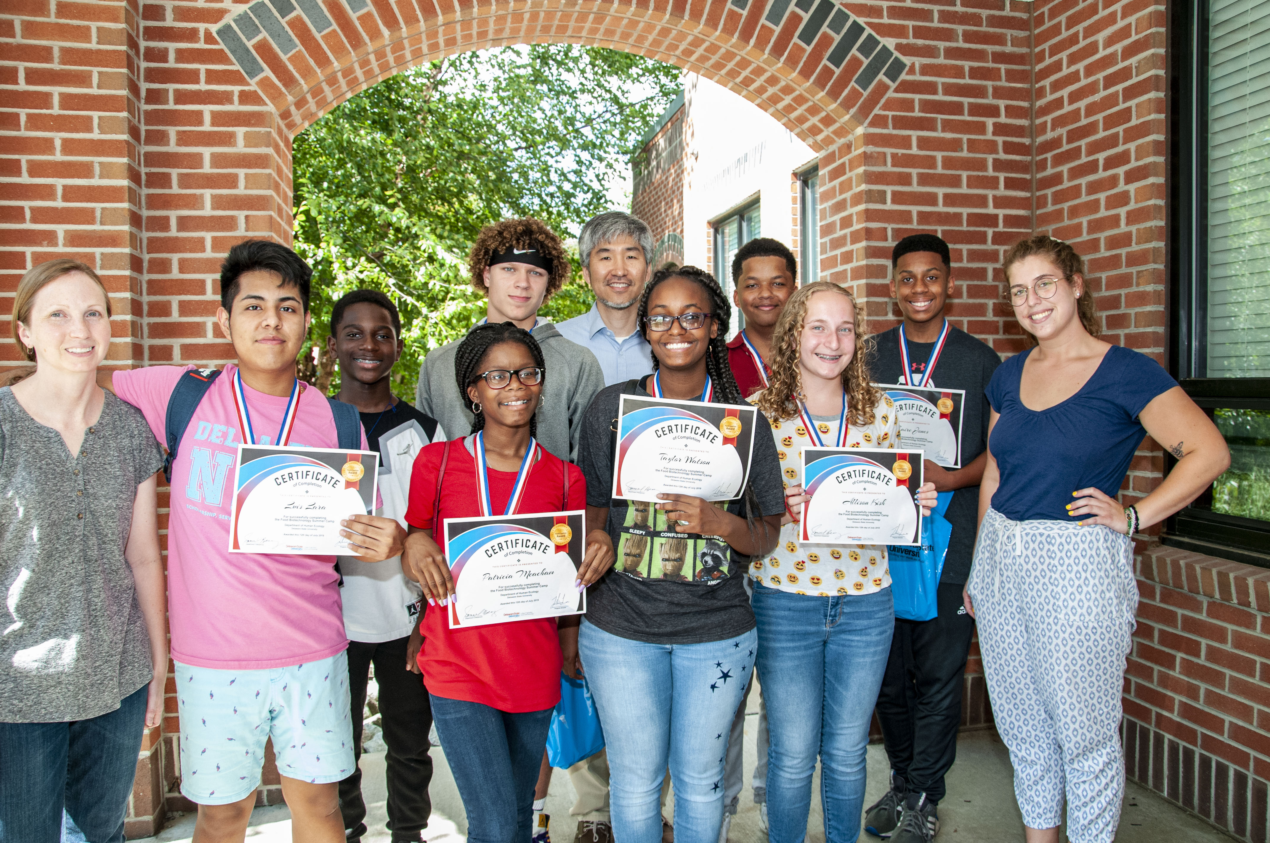 Food Biotechnology Summer Camp participants