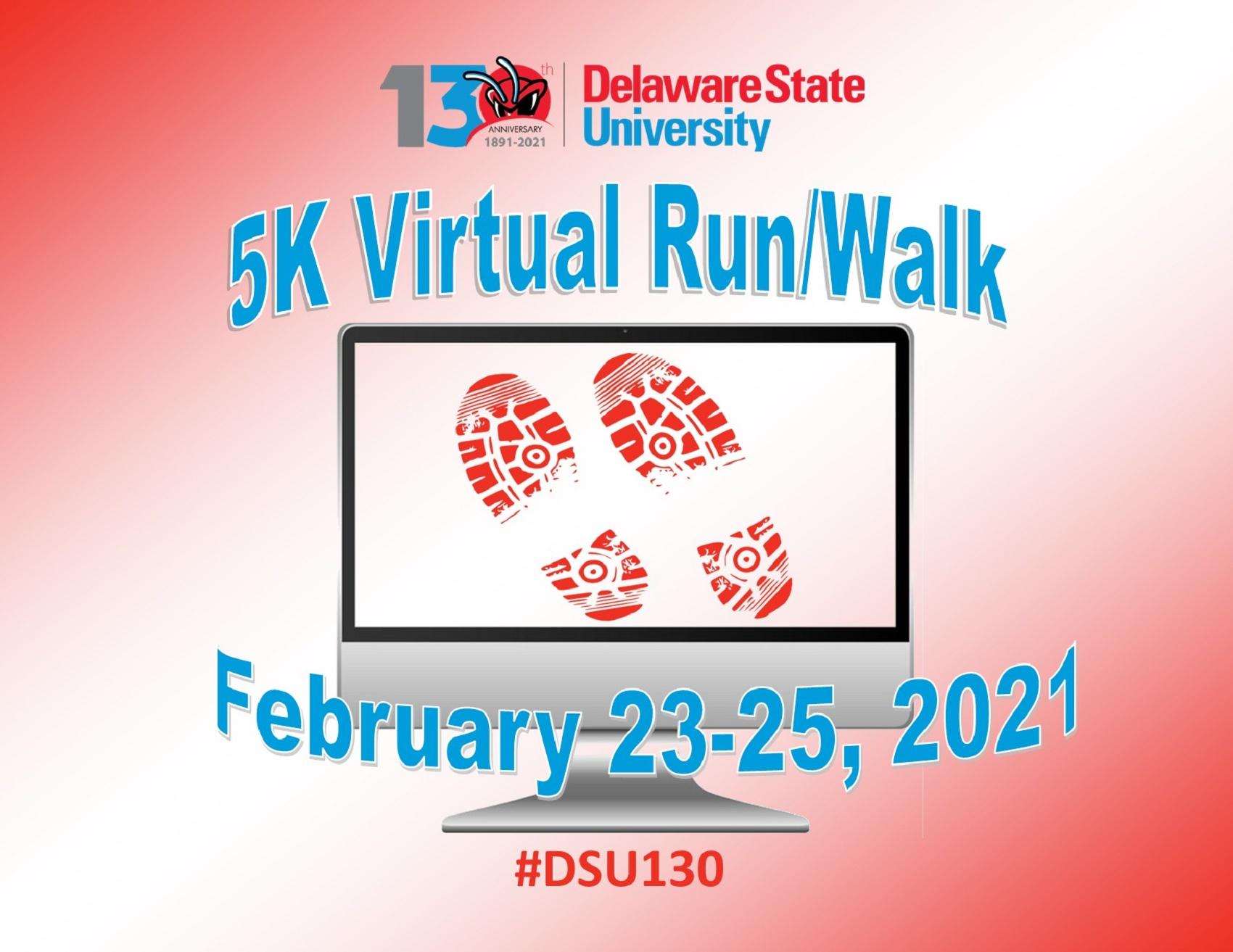 Delaware State University 130th Anniversary Virtual 5k Run/Walk