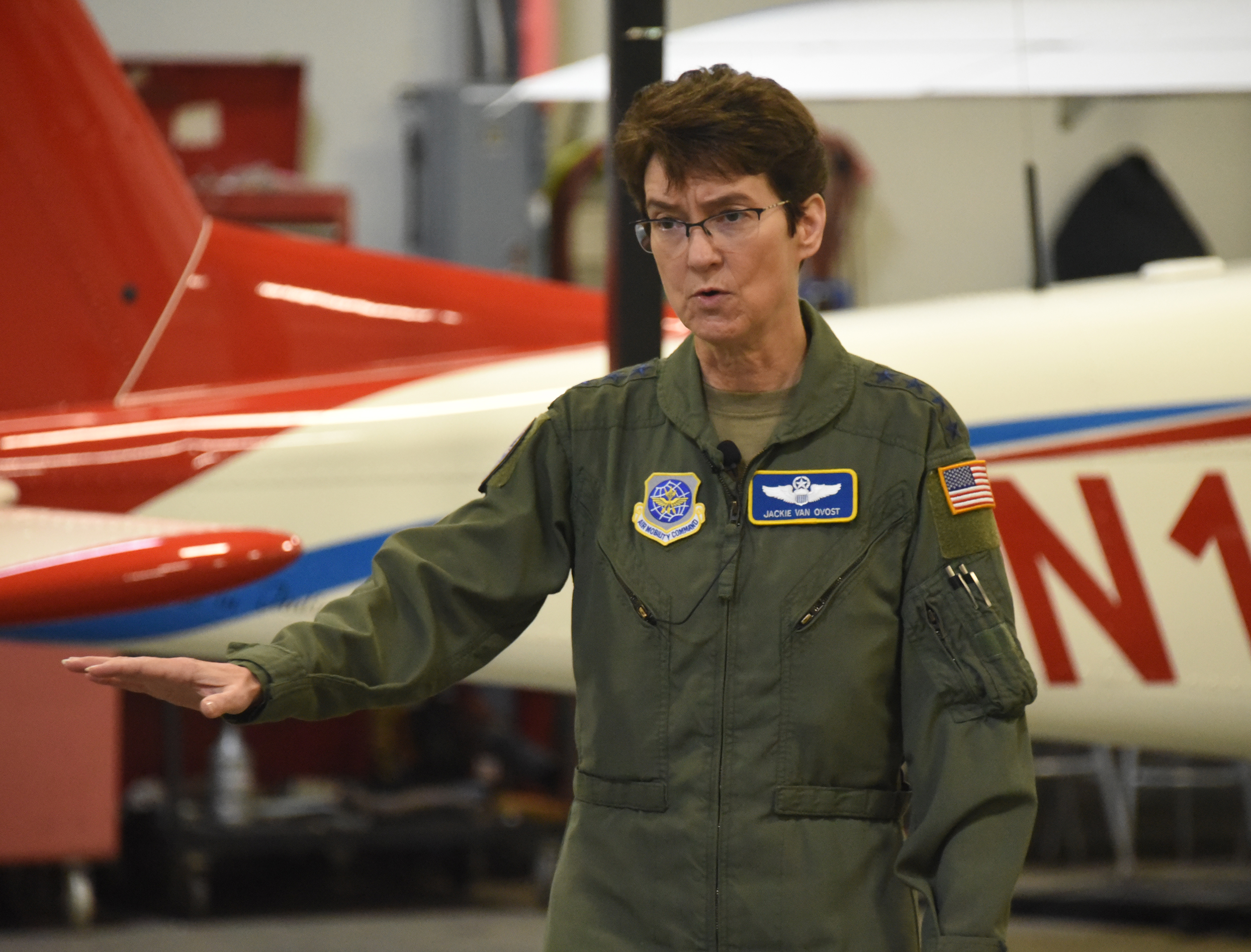 Gen. Jacqueline D. Van Ovost is the only four-star general in the U.S. Department of Defense