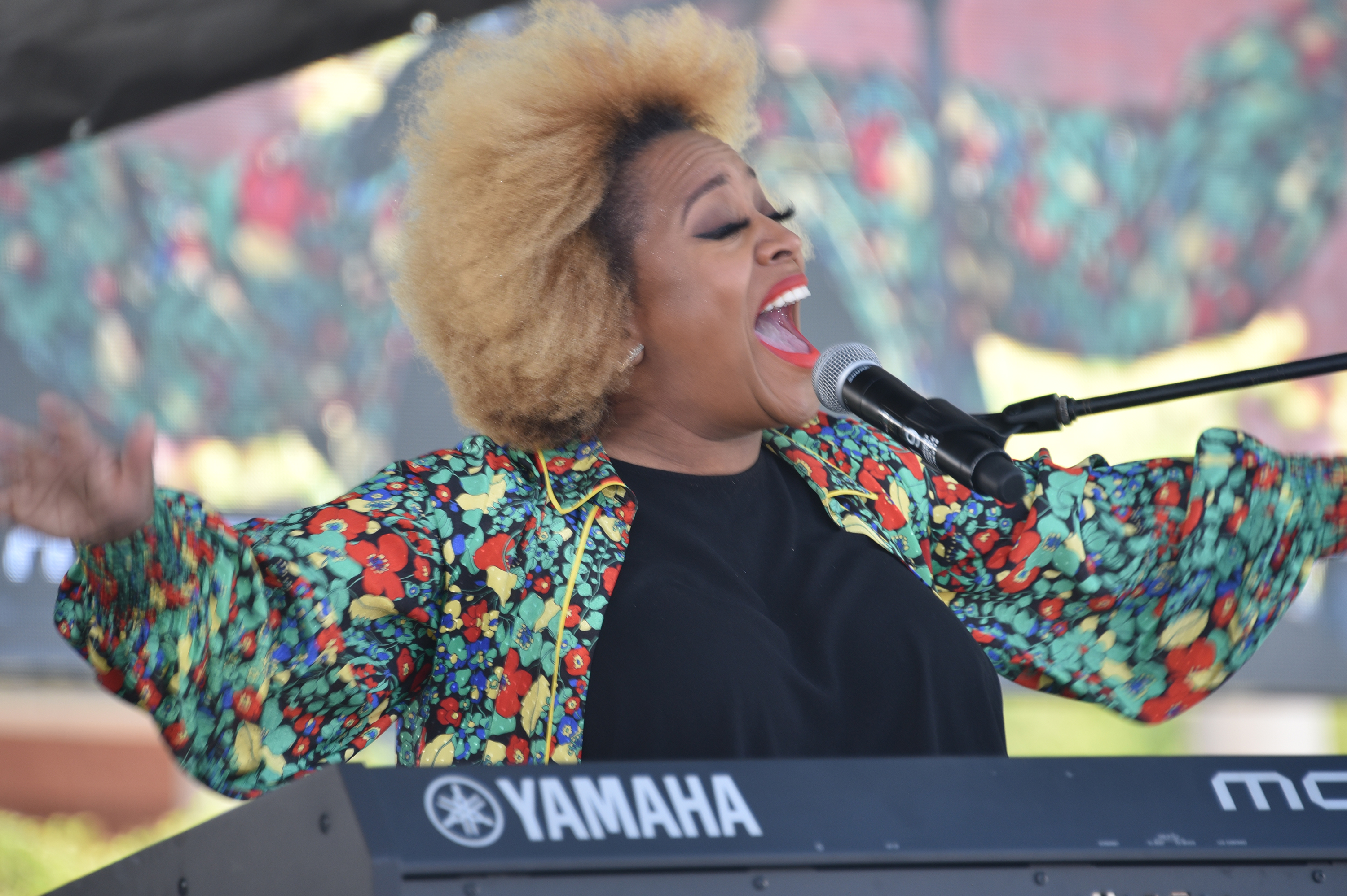Recording artist Avery Sunshine provided soulful music vocals during the celebration.
