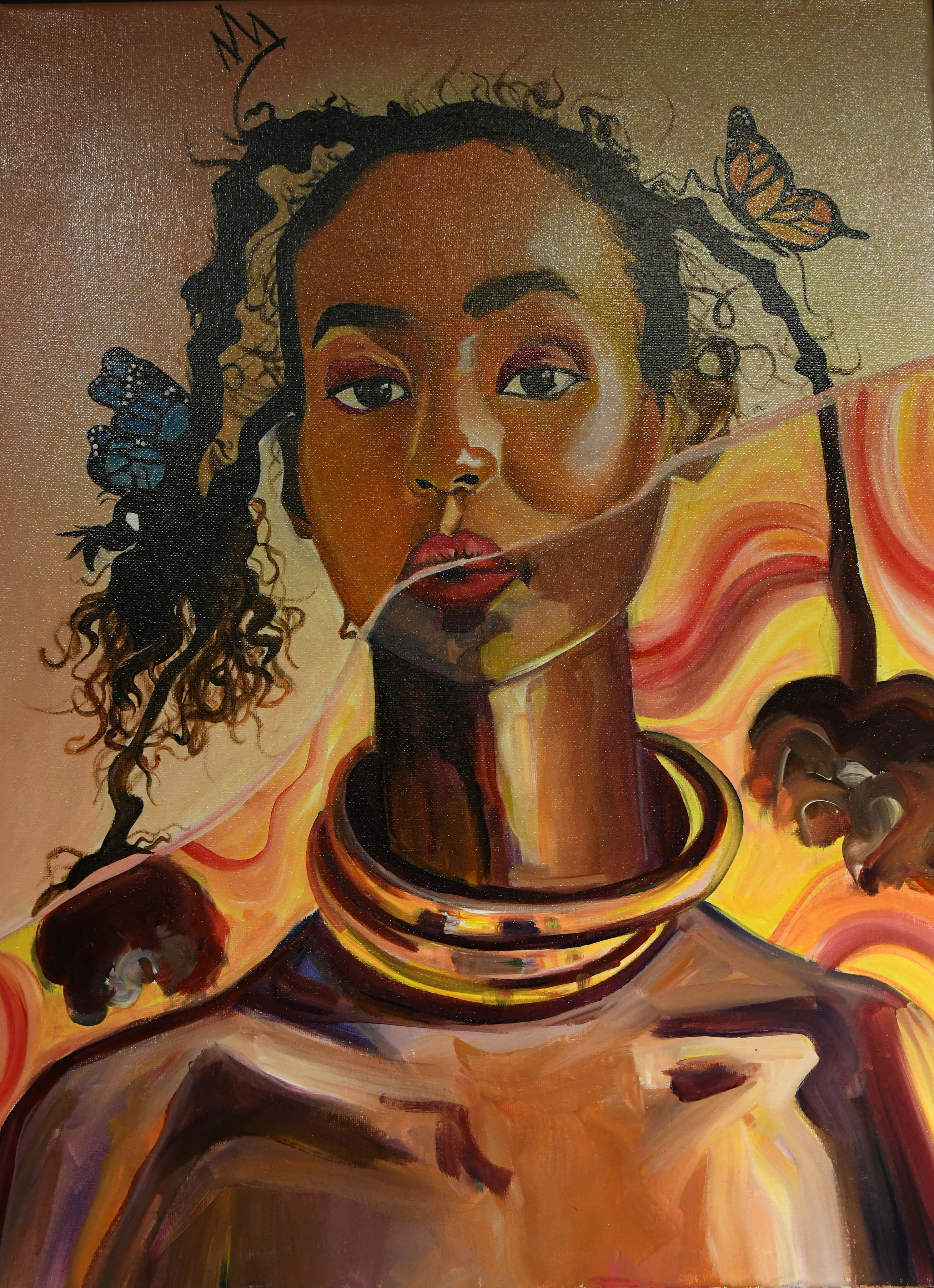 """The collaborative work entitled """"Black Queen"""" is a collaborative work by Taylor Gordon and Kiara Florez."""