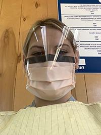 Erin Kopinak, ready for duty.