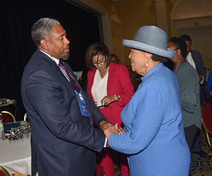 Rep. Alma Adams attended a good portion of the July 23 Symposium, and talked with a lot of the attendees.