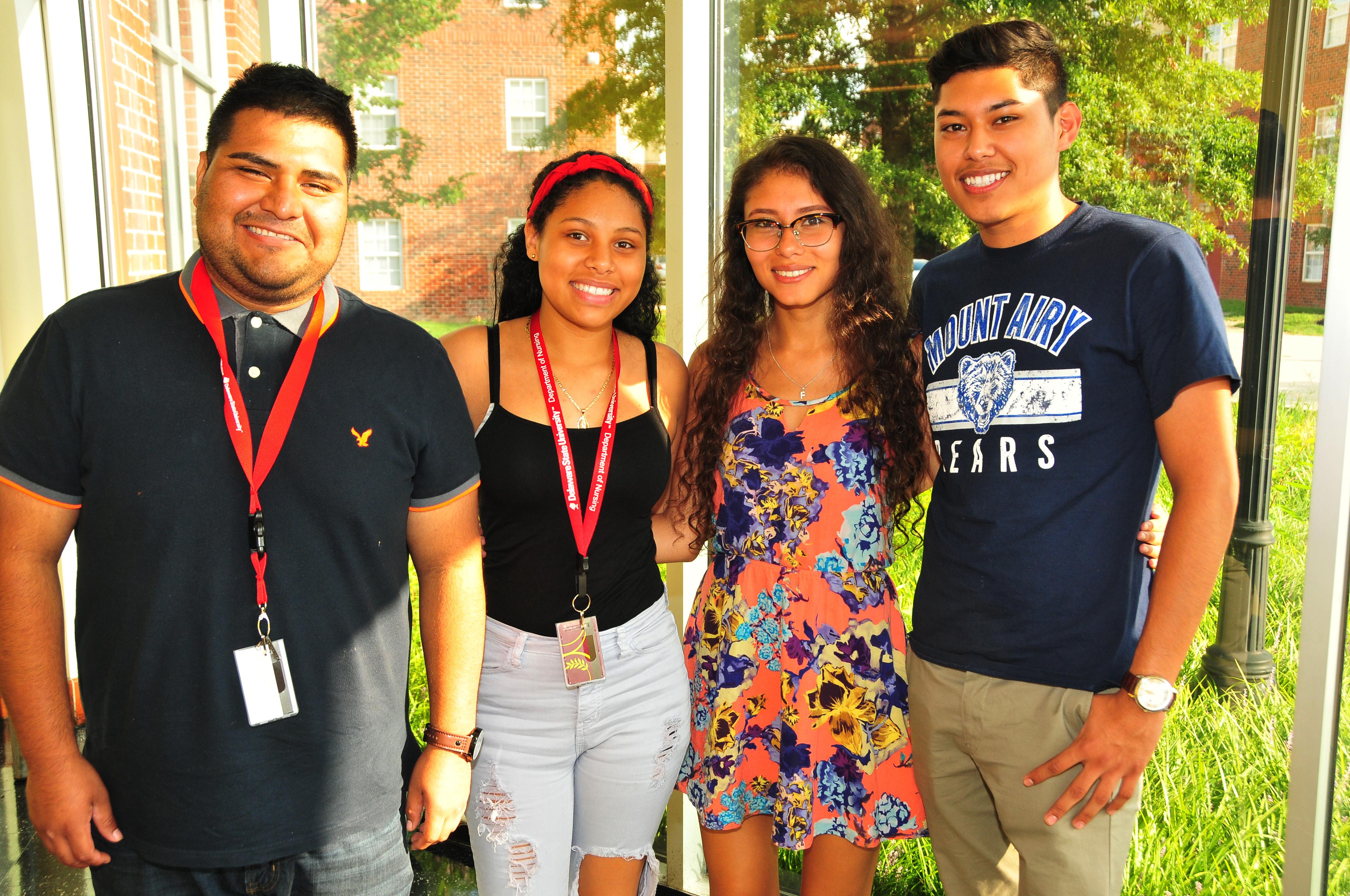 (L-r) Sergio Ramirez, Itzel Serrano, Maria Fernanda Lima and Dilan Lozano are all academic high achievers.