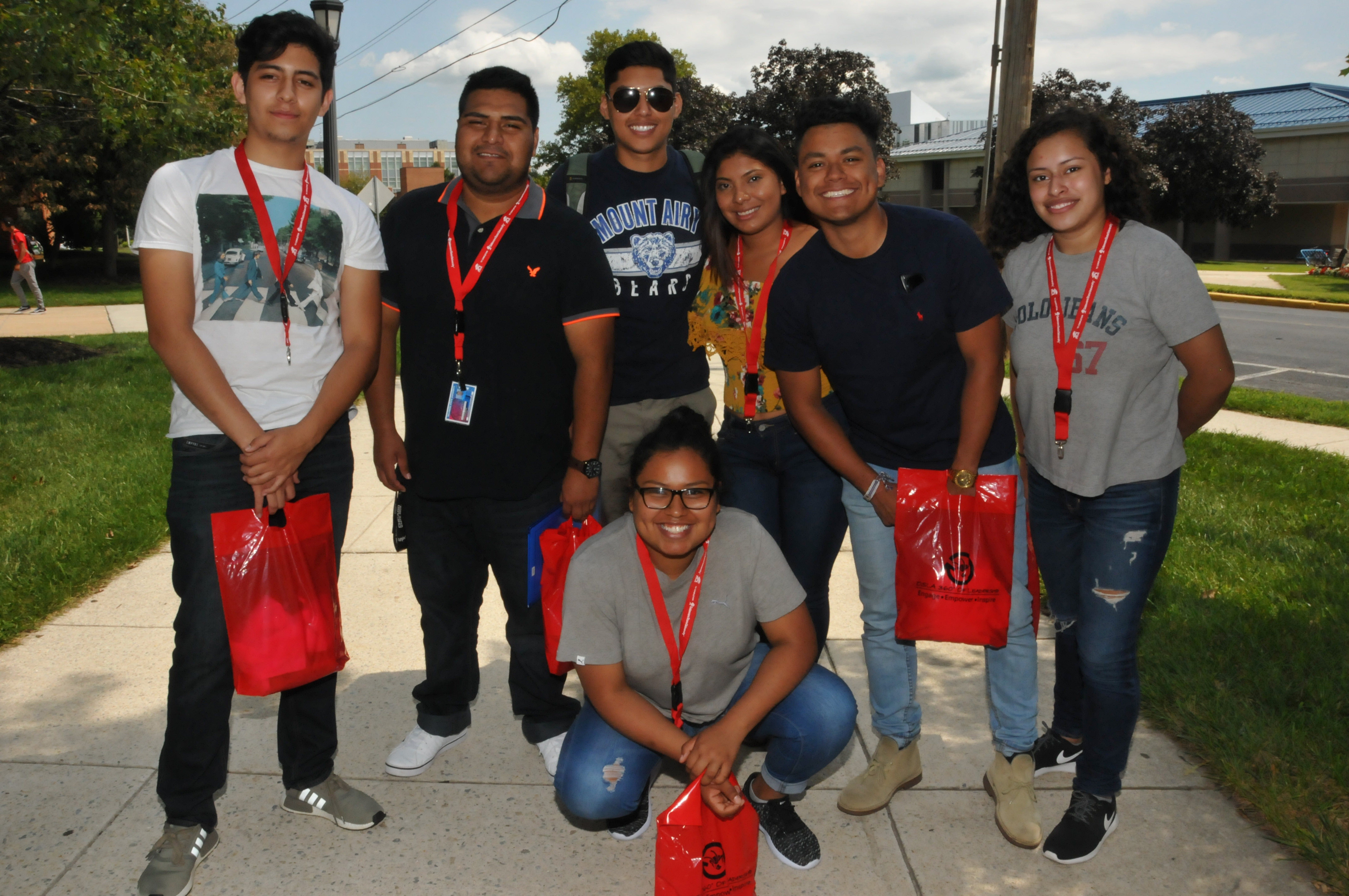 Some of the newest Dreamer students take a break from school supply shopping for a photo op.