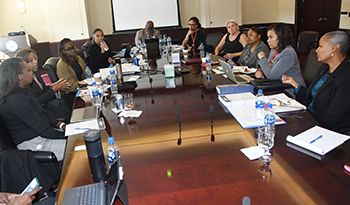 This was one of about 10 meetings that took place between the Gates team and DSU officials during the two-day visit.