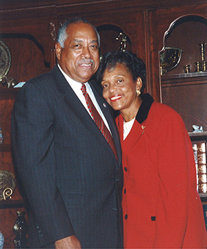 Dr. DeLauder and his wife Vermell.