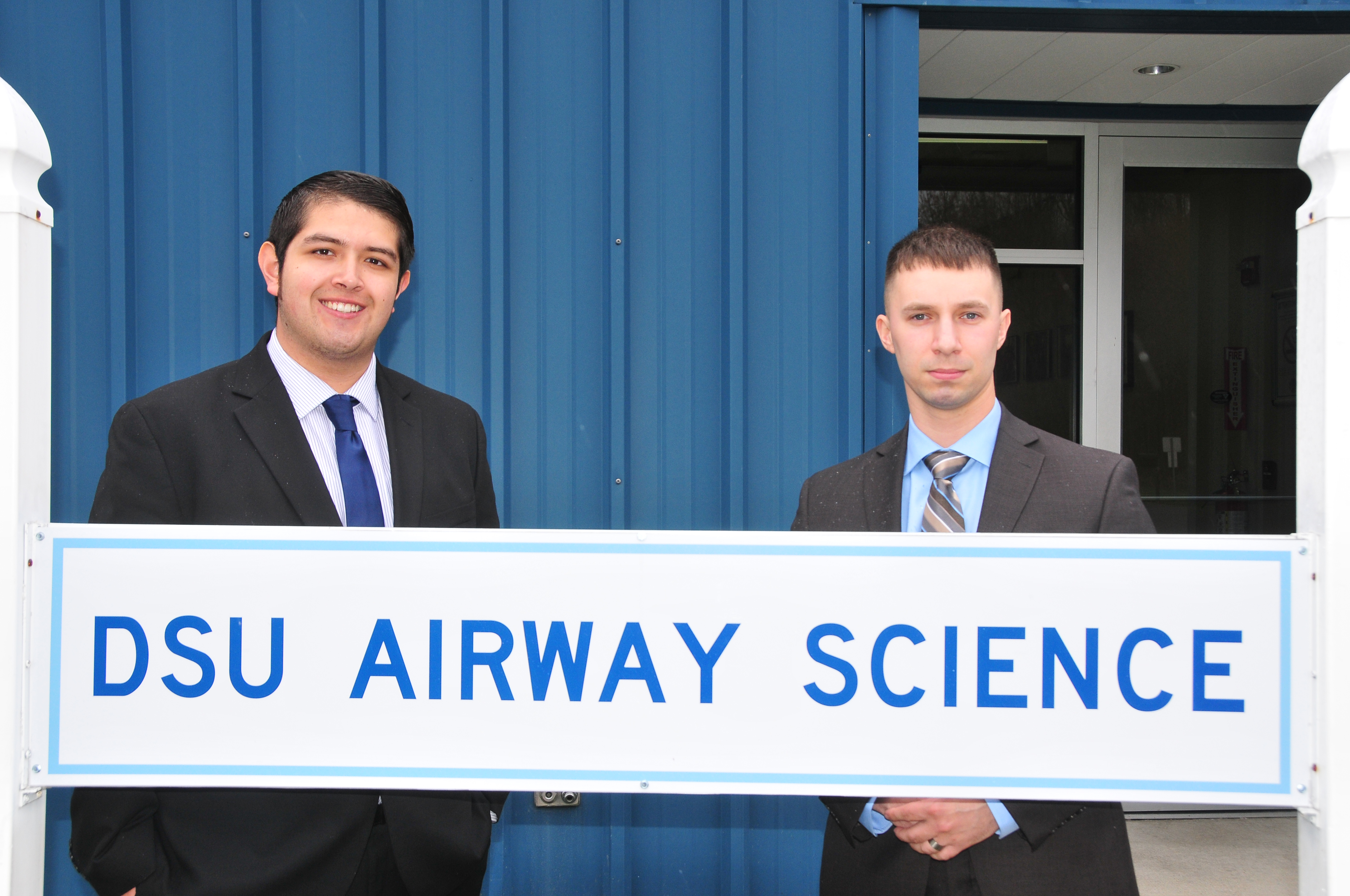 The 4.0 academic performance of (l-r) Edgar Ortiz and Kirk Prange was the first time two Aviation majors have completed their undergraduate journey with a perfect GPA.