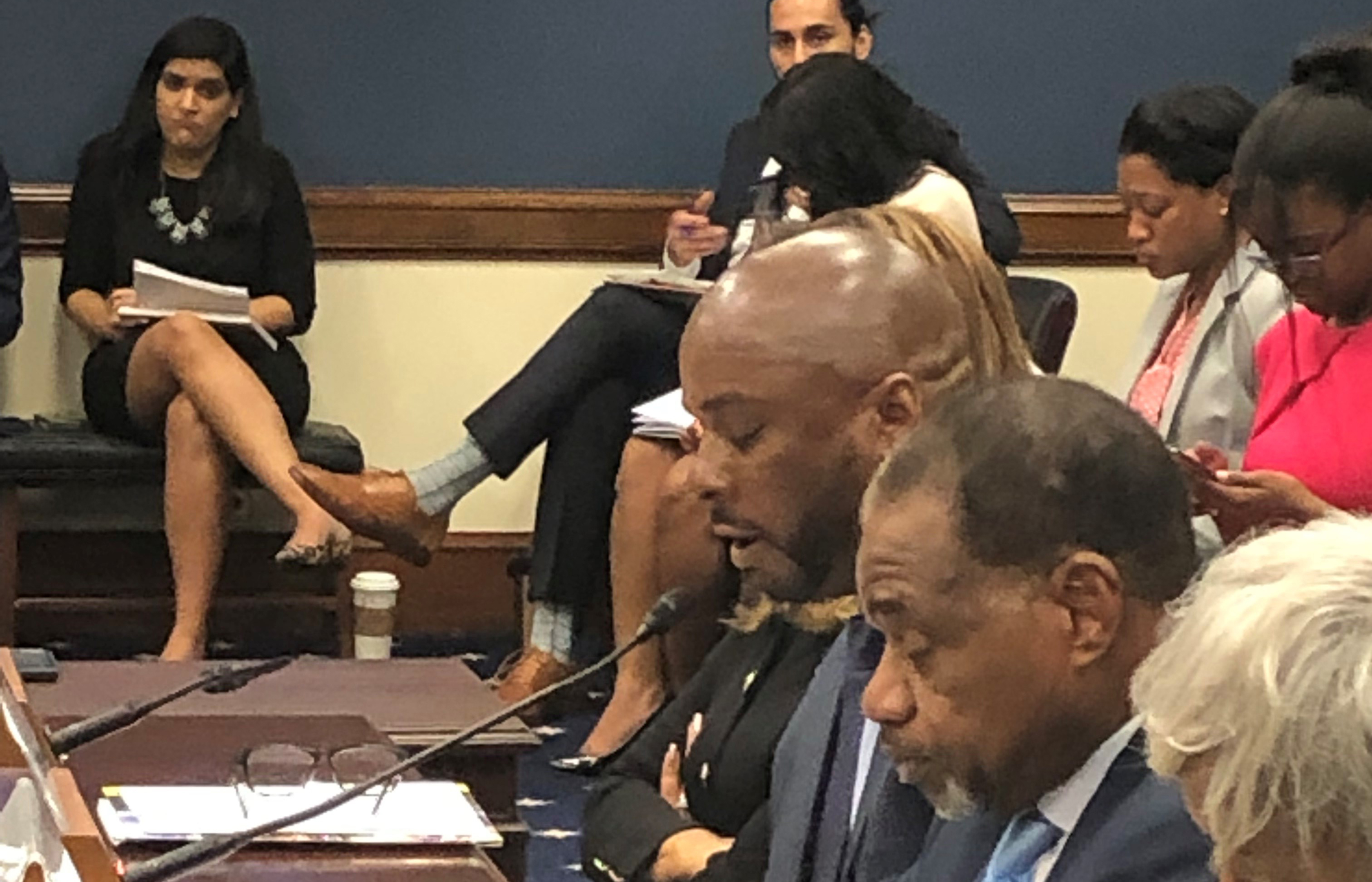 Dr. Michael Casson Jr. testifies before a U.S. House of Representative subcommittee on how the Small Business Administration could work more effectively with Historically Black Colleges and Universities.