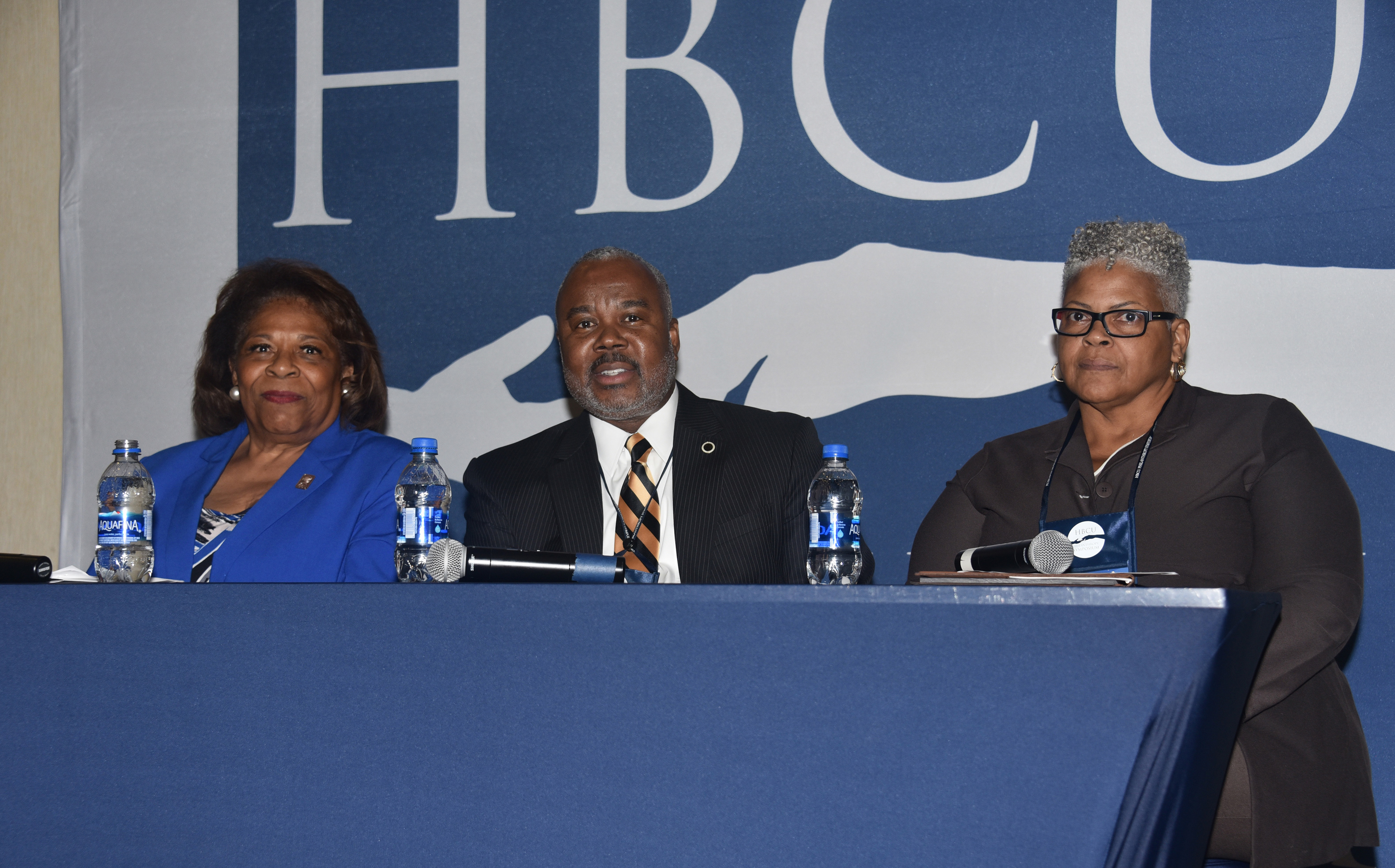 Three HBCU presidents -- (l-r) Delaware State University's Dr. Wilma Mishoe, Alabama State University's Dr. Quinton T. Ross Jr., and Lincoln (Pa.) University's Dr. Brenda Allen -- shared their thoughts from the top on the fundraising challenges facing HBCUs and the role of institutional advancement professionals in overcoming them.