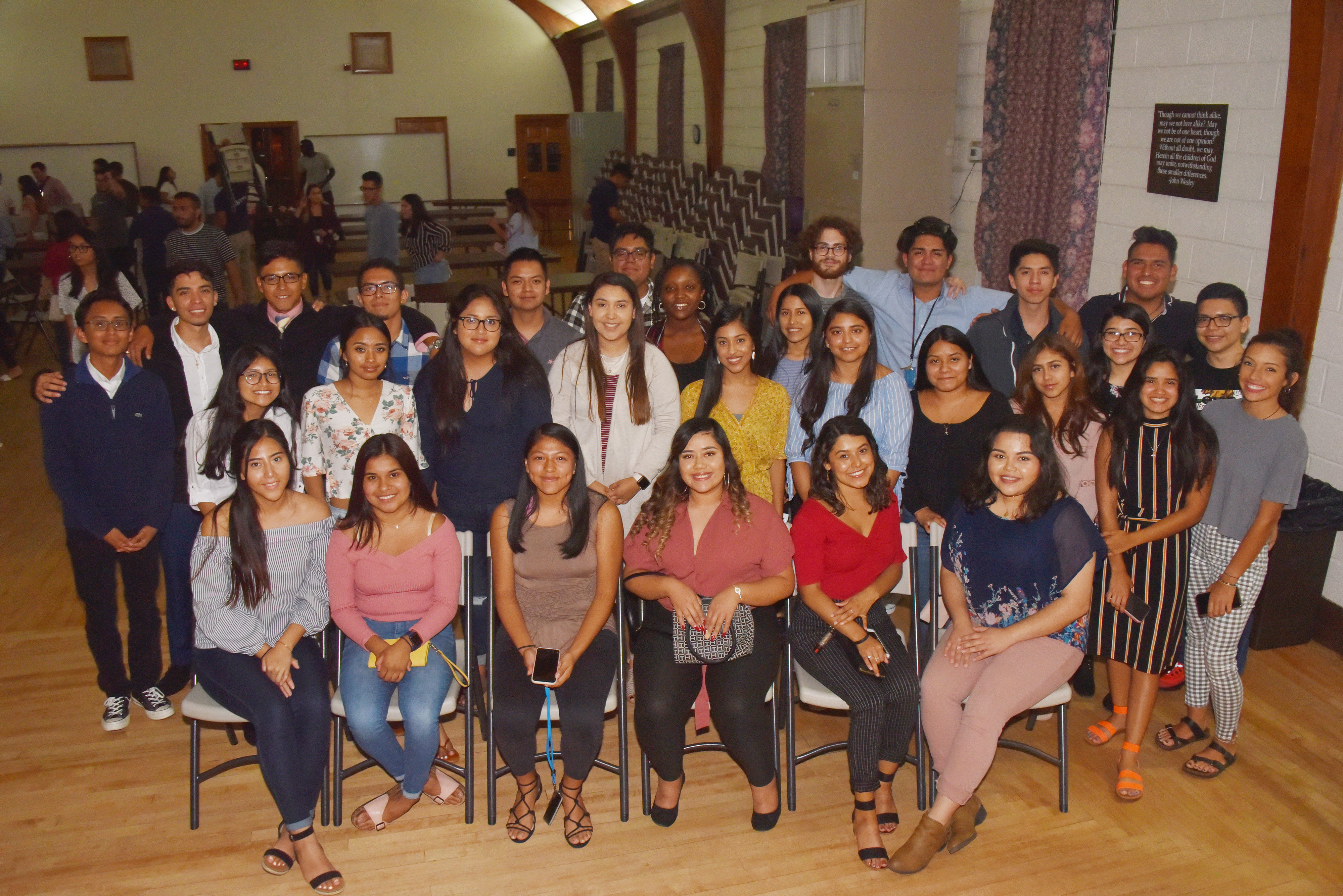 The newest class of Dreamers at Delaware State University were welcomed at an Aug. 29 reception.