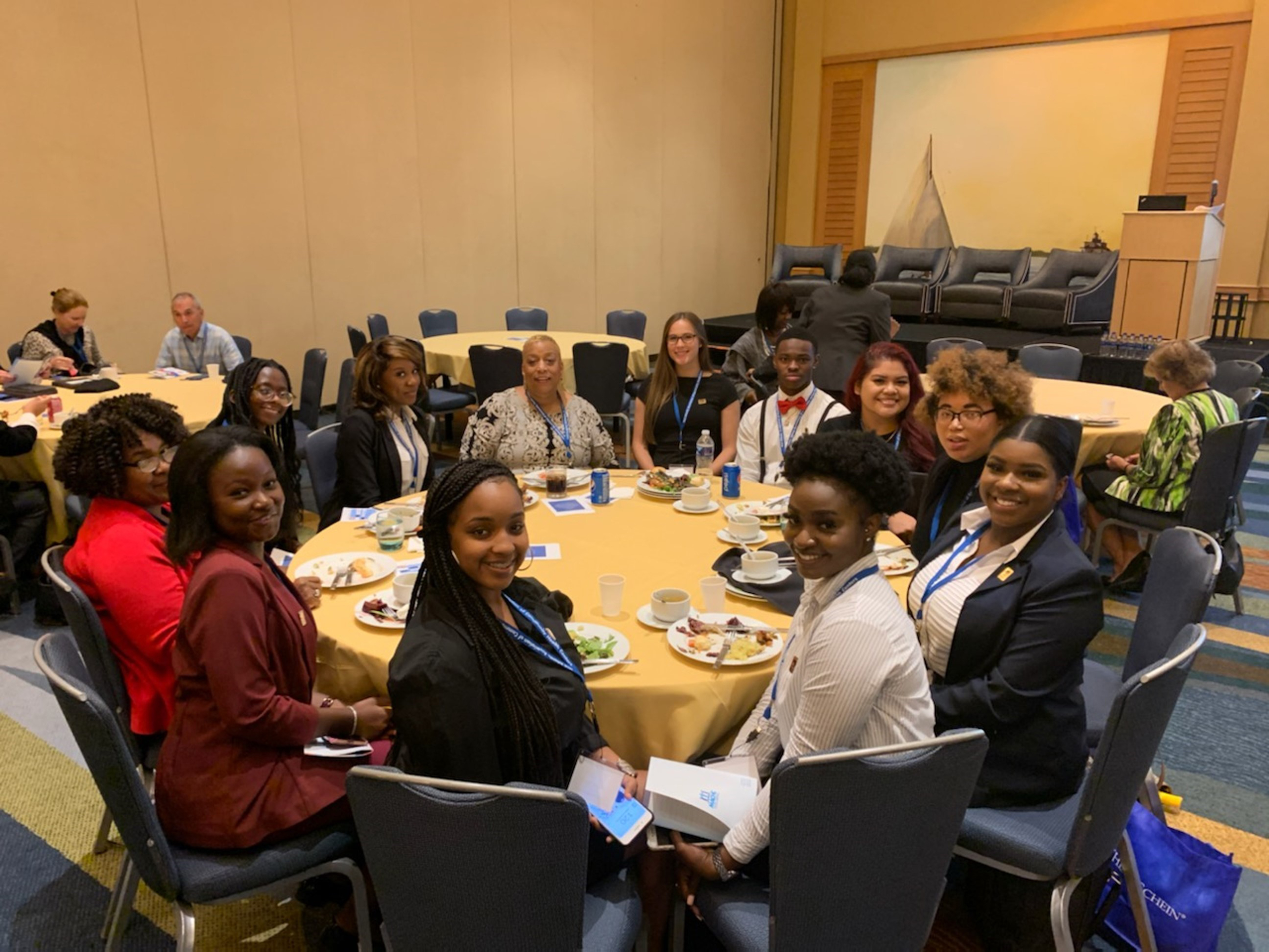 A group of Delaware State University students attended the One Voice Together Conference held for community health professionals on Sept. 30 in Chesapeake, Md.
