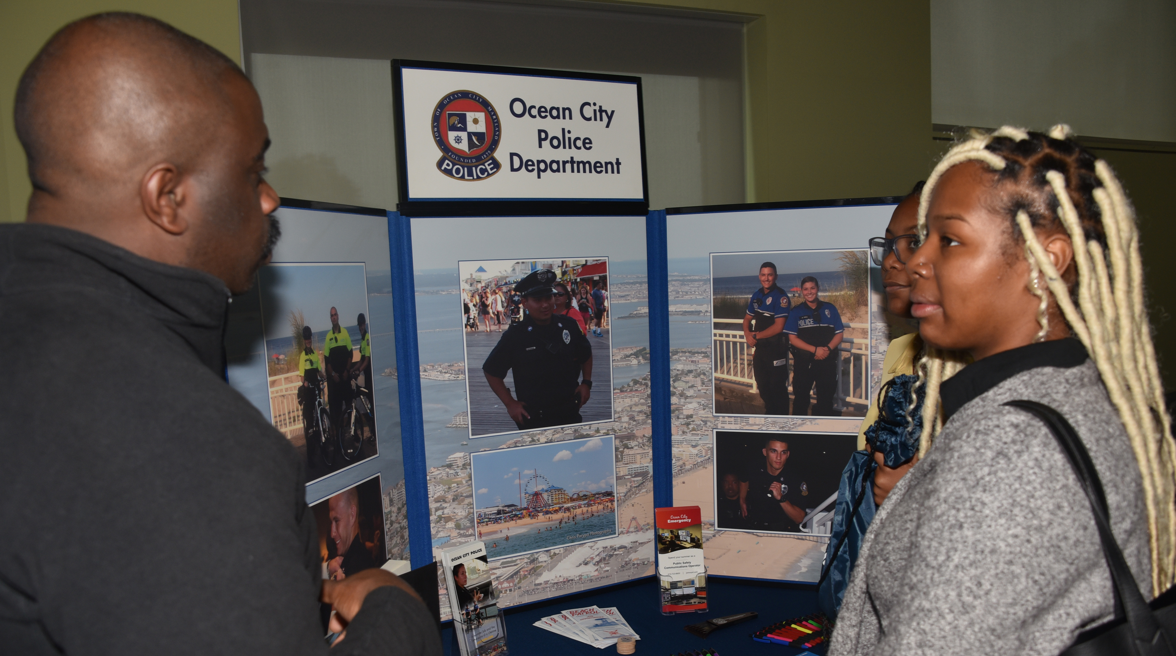 The Ocean City Police Department was one of the 39 law enforcement agencies and other organizations that participated in the Sgt. Rodney H. Bond Jr. Law Enforcement and Forensic Science Career Fair.