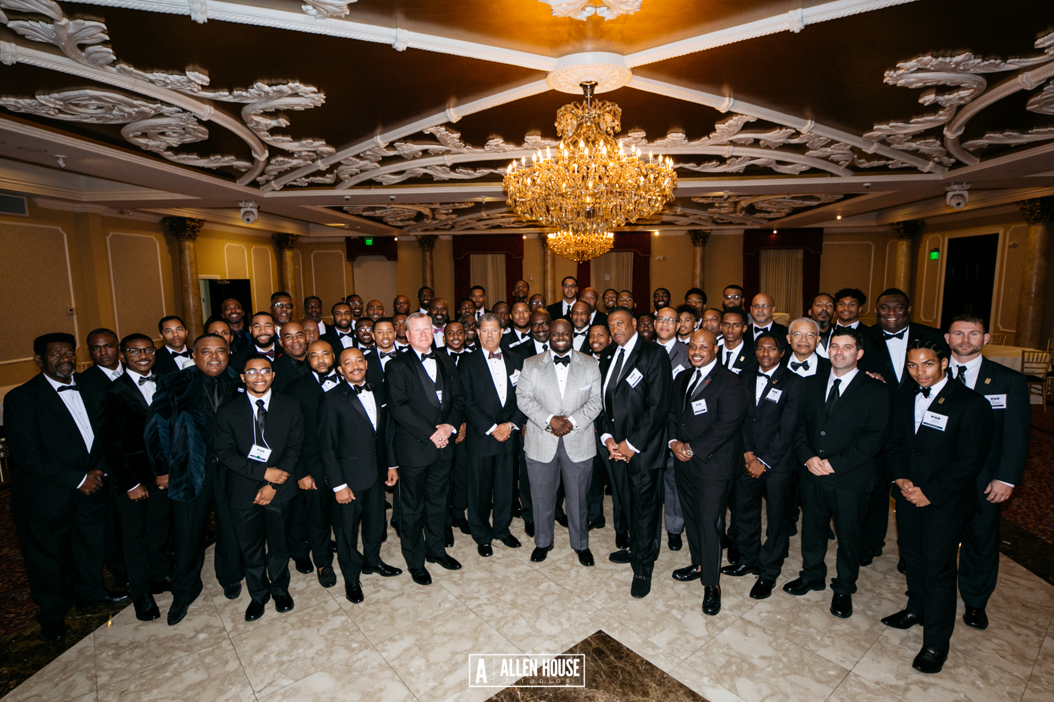 """This """"Men of Delaware State University"""" is the lead photo in a CEO Magazine feature article on University President Tony Allen"""