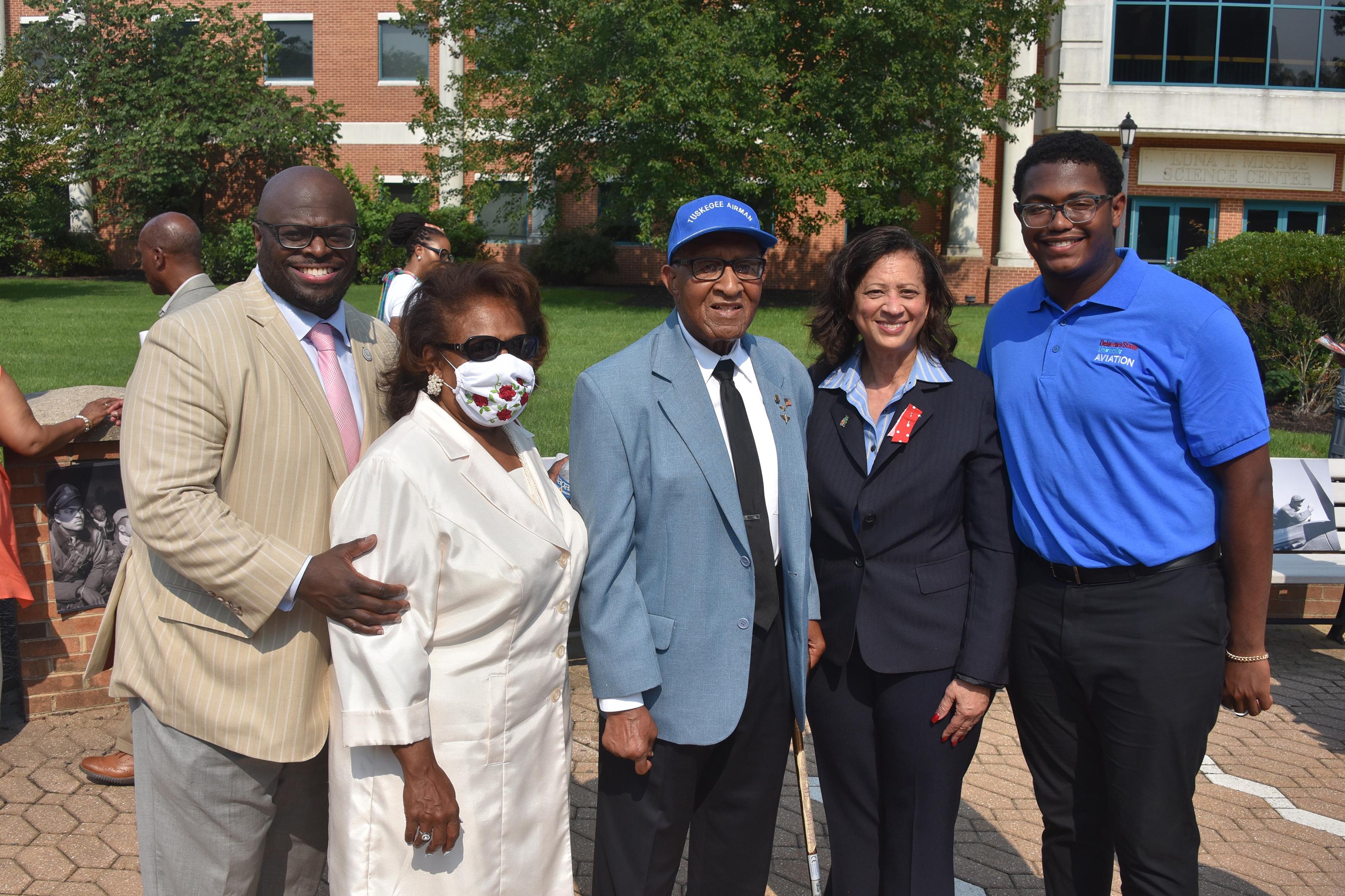 University dedicates a Tuskegee Airmen memorial section on campus