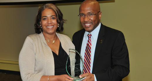 President Harry L. Williams and Michelle Fisher